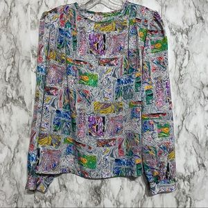 Vintage marble water color art to wear blouse